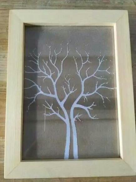 木板刻画简单图案图片