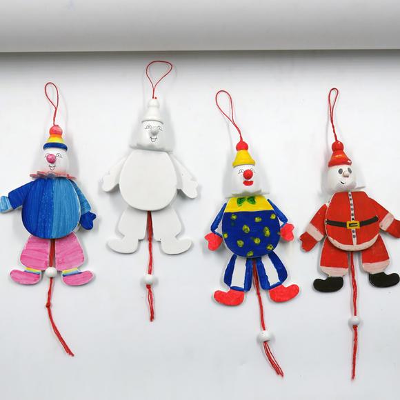 萬圣節拉線小丑提線木偶手工玩具 幼兒園美工區材料