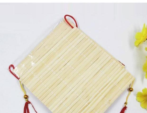 黄小艺 儿童手工材料竹帘子挂饰 新年福字亲子创意手工diy制作