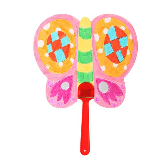 艺趣手工自制空白纸扇子幼儿园创意制作儿童diy涂色