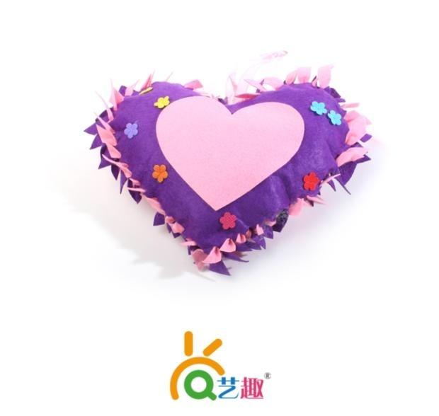 艺趣儿童手工制作幼儿园手工diy材料包 送妈妈创意礼物小礼品抱枕