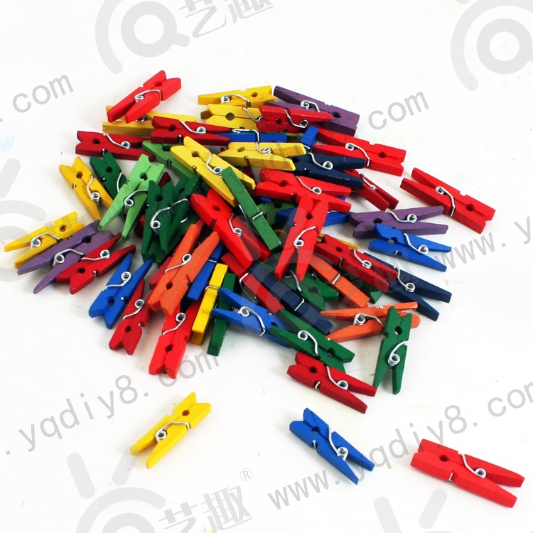 手工材料手工diy儿童手工制作幼儿手工diy-彩色小夹子