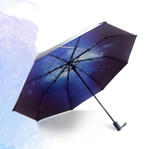 【magicraft】原创设计 一宿星空 星空主题 3层折叠晴雨伞