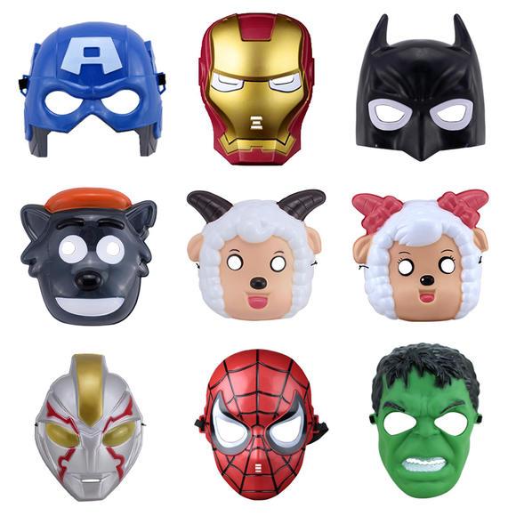 千奇坊儿童卡通面具幼儿园亲子活动表演装扮道具塑料发光动漫面具