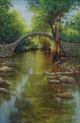 小桥马克笔手绘