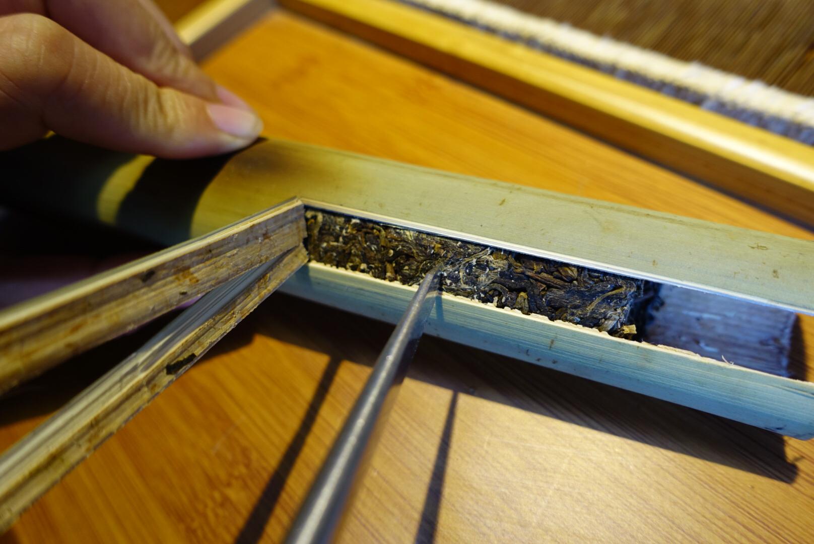 小香竹筒茶——古树茶配新鲜竹子手工制作