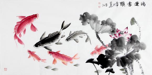 商品详情 鸿运当头 【作品规格】 68*138cm 【画家简介】 李春江,男图片