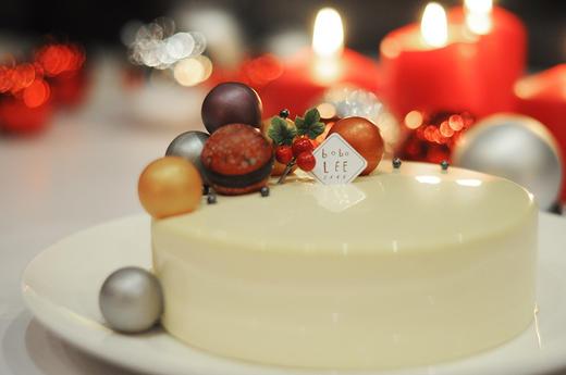 圣诞款白巧克力覆盆子慕斯蛋糕WHITE CHOCOLATE RASPBERRY MOUSSE CAKE  商品图2