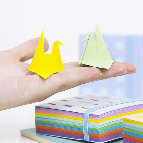 香味彩色折纸 千纸鹤折纸材料儿童手工剪纸正方形玫瑰