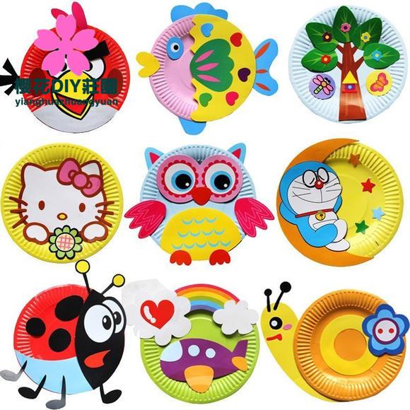 女孩子纸盘,蜗牛纸盘,大树纸盘,老虎纸盘,瓢虫纸盘,小猴子纸盘,飞机纸