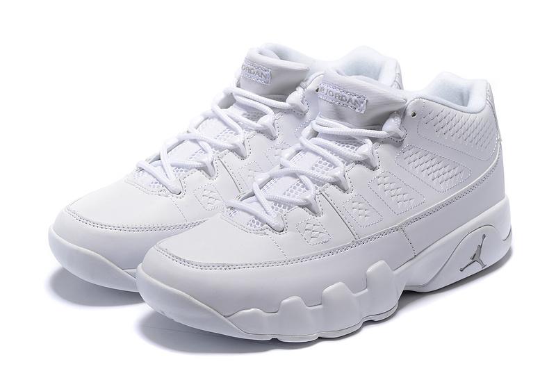 all white jordans 9