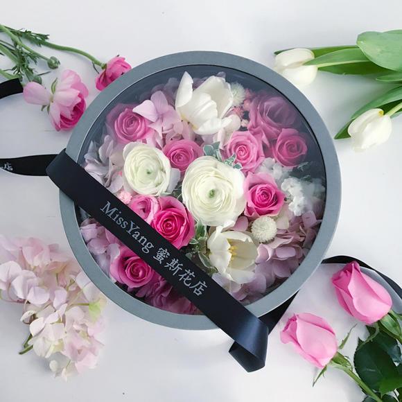 透明圆形花盒