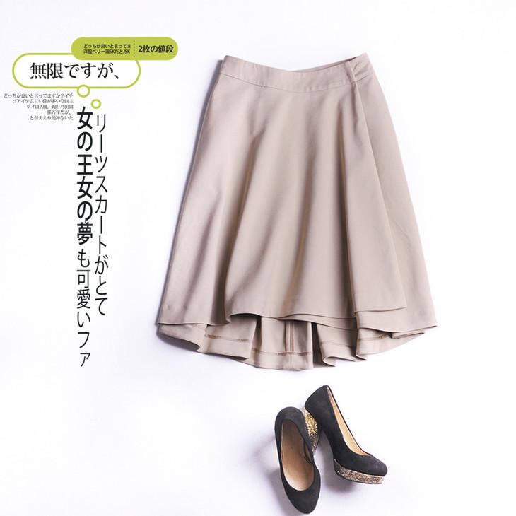 一片围裹式半裙,轻松一围成型,不是圆筒型,前后裙身一顺片拼合,很轻松