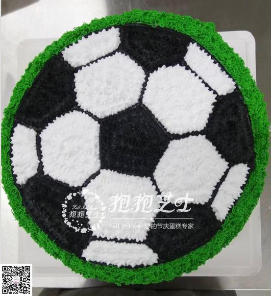 平面足球蛋糕图片