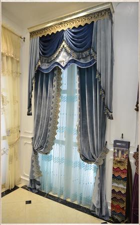 别墅高窗豪华法式欧式高档窗帘定制