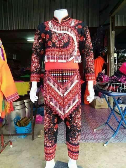 2017最新泰国苗族服装男款