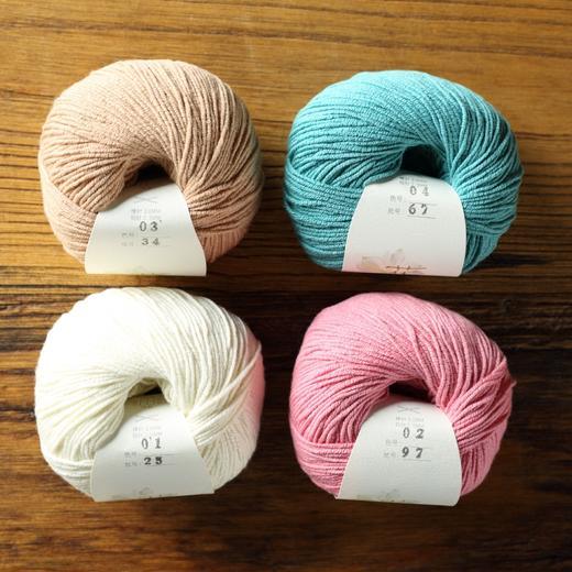 【花线.意棉】编织人生进口线材手工编织毛线春夏棉线宝宝线棒针 商品图3