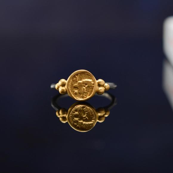 花钿荟 bosphorous土耳其设计师作品 小金圆狮子戒指