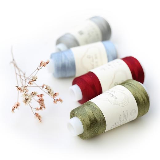 【编织人生云帛真丝】100%Silk桑蚕丝蕾丝线 50克/团 手工编织钩针毛线细线 商品图4