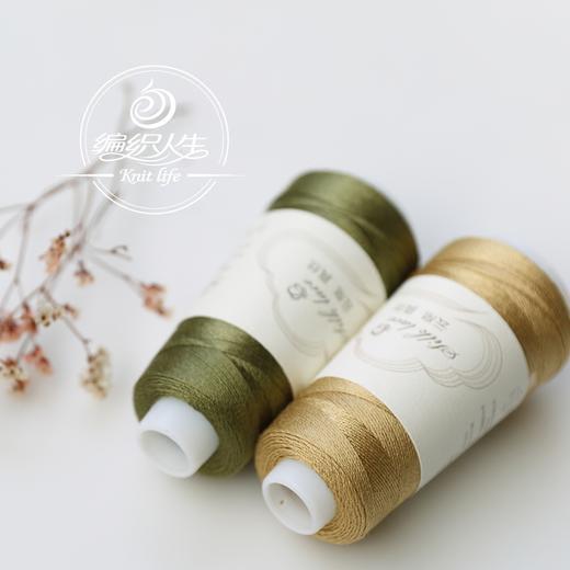 【编织人生云帛真丝】100%Silk桑蚕丝蕾丝线 50克/团 手工编织钩针毛线细线 商品图0