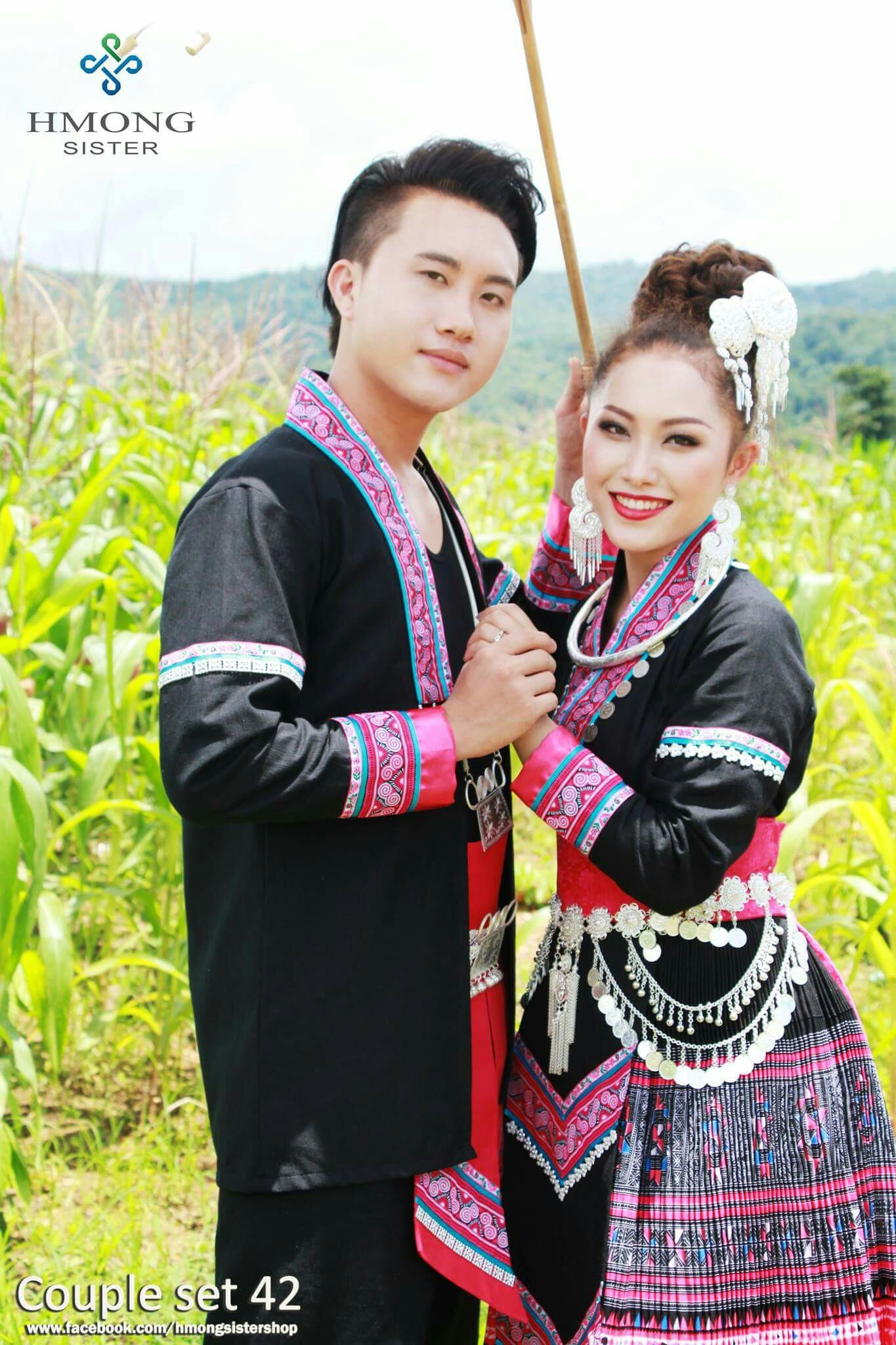 2017泰国苗族情侣装款,女款服装 项链 腰带,其它不包括套餐内.