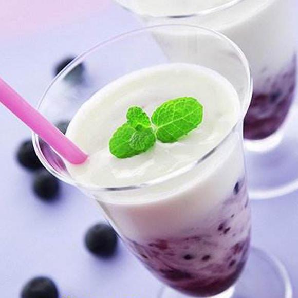 蓝莓优格冰乐图片