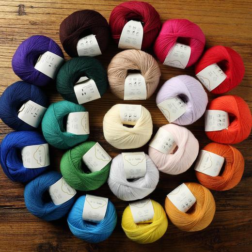 【云侣】编织人生羊毛蕾丝线细线  40克/团 可搭配云马马海毛编织衣服围巾 商品图5
