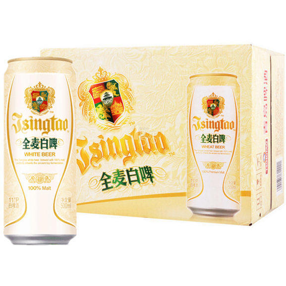 青岛原厂全麦11°白啤500ml(6罐/48元 12罐/78元)