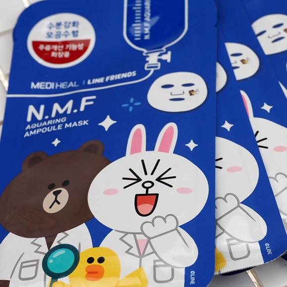 美迪惠尔可莱丝韩国补水保湿卡通动物面膜10片