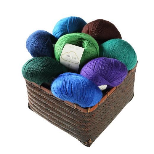 【云侣】编织人生羊毛蕾丝线细线  40克/团 可搭配云马马海毛编织衣服围巾 商品图6