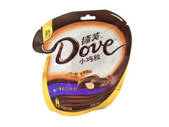 德芙小巧粒(榛仁果粒巧克力)84g/袋