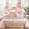奢华欧式床上用品桑蚕丝加厚色织真丝四件套 浪漫樱花 商品缩略图0
