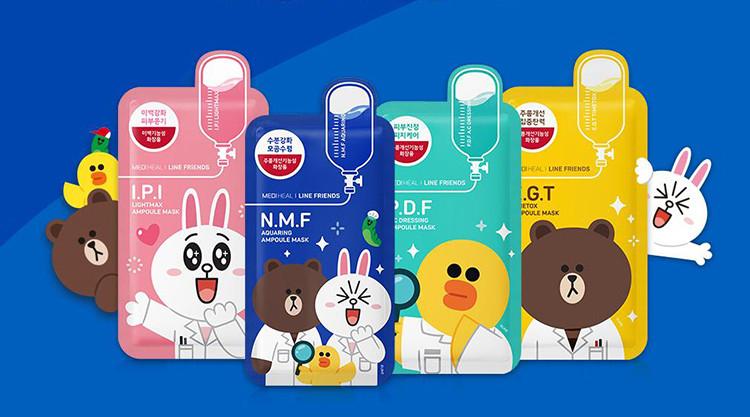 【超市1】美迪惠尔恋朋修护动物面膜卡通版 10片 弹力