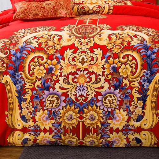 婚庆纯棉磨毛床单四件套-王的盛宴 商品图2