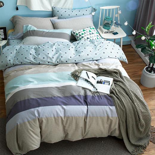 纯棉床单四件套-摩登风范 商品图0