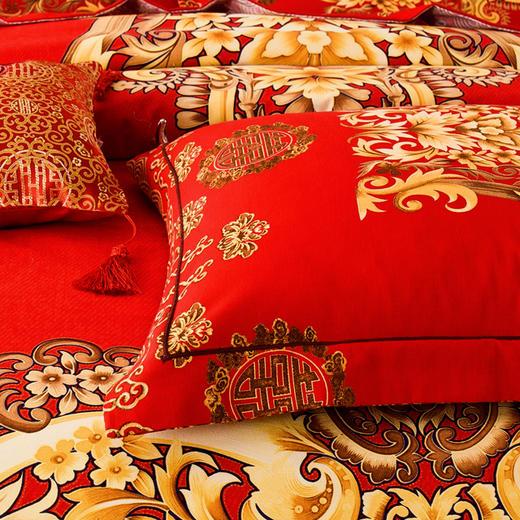 婚庆纯棉磨毛床单四件套-王的盛宴 商品图4