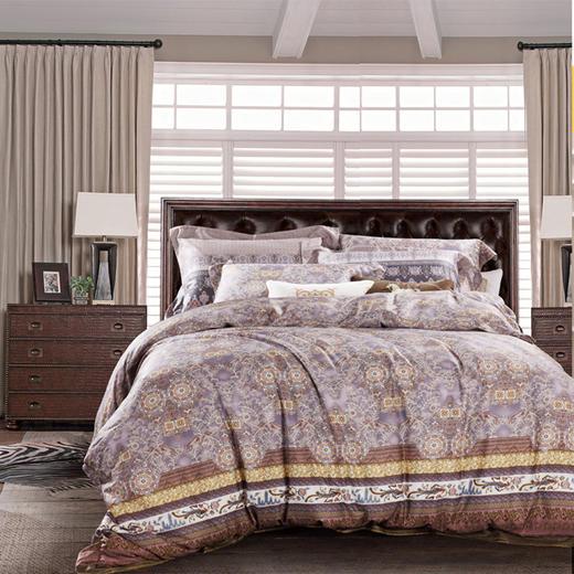 皇锦缎床单四件套-加州花语 商品图0