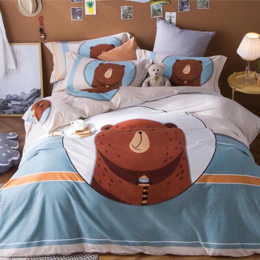 儿童磨毛纯棉床单四件套-萌宠 商品图0