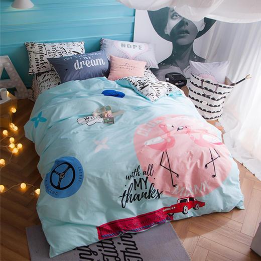 丹麦大版卡通纯棉床单四件套-瑞贝卡 商品图0