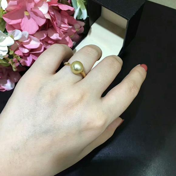 开口金珠戒指