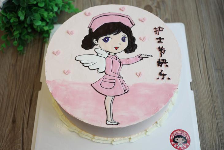 款式圖案定制 白衣天使2,護士節蛋糕,如圖款式,新鮮水果,動物性淡奶油圖片