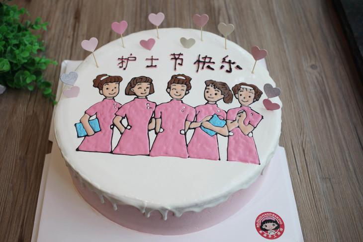 款式圖案定制 白衣天使1,護士節蛋糕,如圖款式,新鮮水果,動物性淡奶油圖片