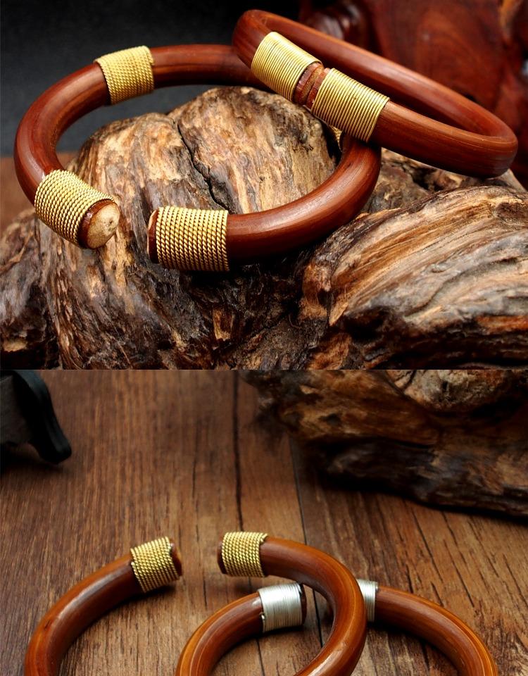 订制正宗纯手工包银丝包铜丝镶嵌野生金刚藤手镯男女款手环饰品