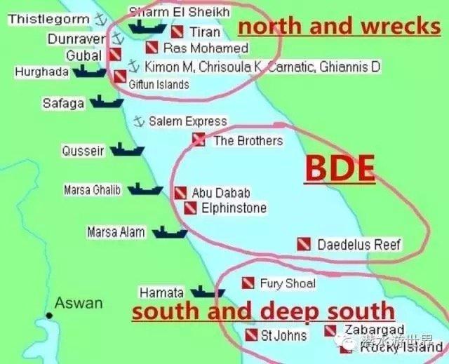 介于阿拉伯半岛和非洲大陆之间的狭长海域,这里密密麻麻分布着很多潜