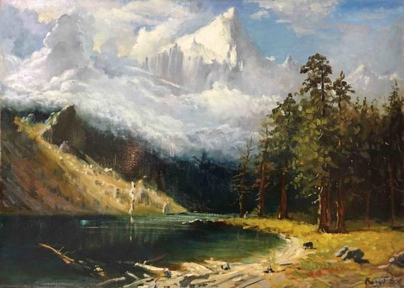 《雪山下的风景》