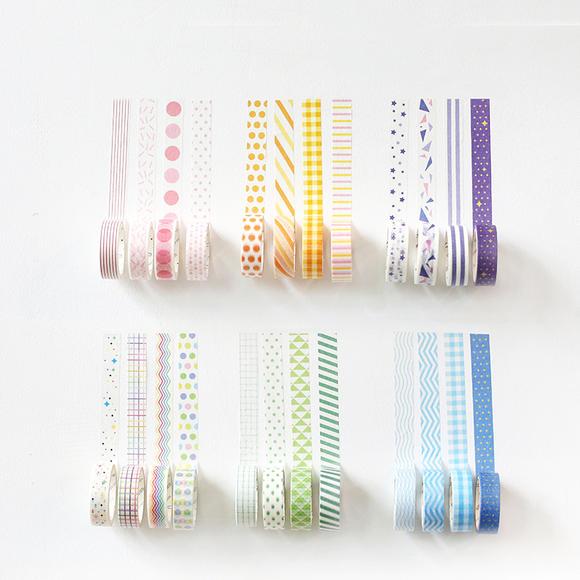 本小姐 小清新基础系列和纸胶带 糖果色手帐文具边框装饰胶带15mm