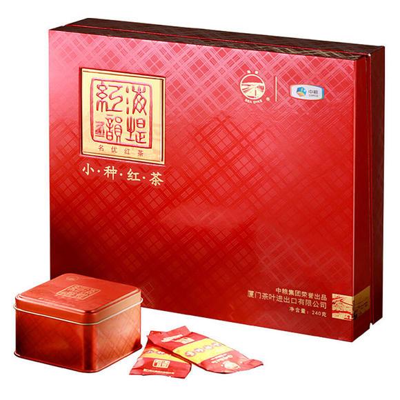 中粮中茶牌 海堤茶叶 红茶正山小种红茶礼盒 240g 60图片