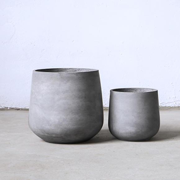 水泥花盆创意圆柱形简约欧式风格现代装饰艺术镁泥