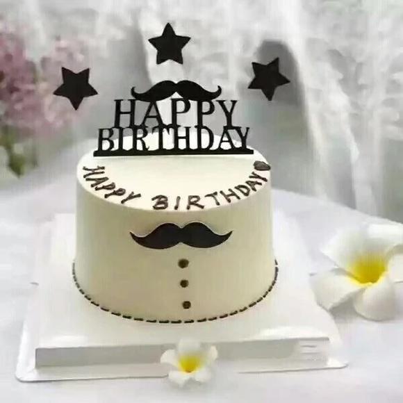 绅士帅哥生日蛋糕送男士男朋友老公同事