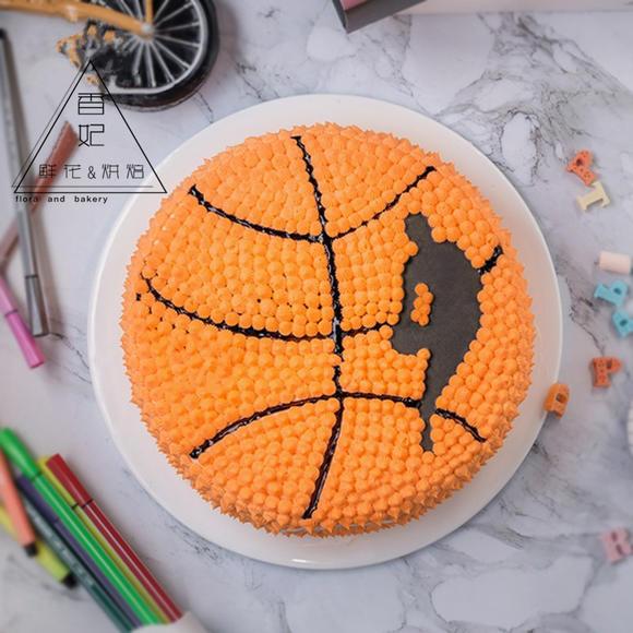 香妃蛋糕篮球足球个性创意生日蛋糕定制送男朋友嘉兴